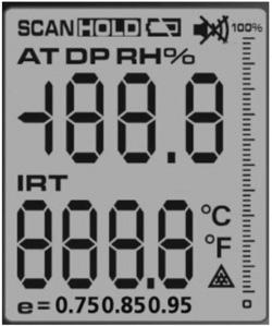 Pirometr AX-7600 z pomiarem punktu rosy
