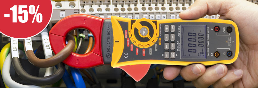 AXIOMET current clamp meters with up to 15% discount!