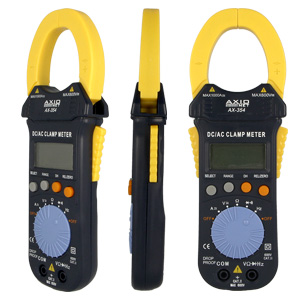 Clamp meters for hard-to-reach locations