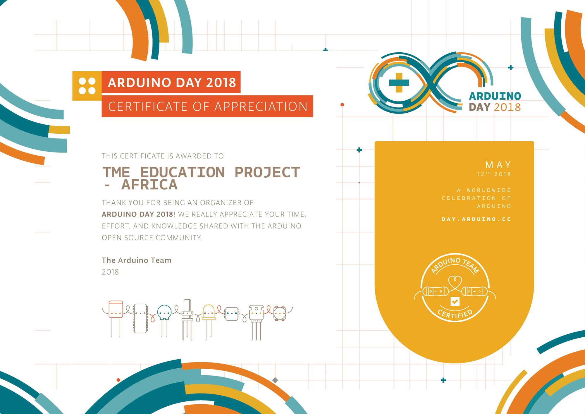 Adruino Day 2018 celebrations in Tanzania!