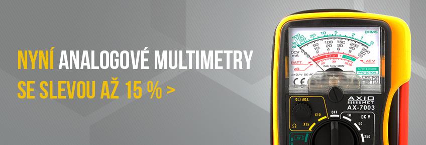 Pouze v červnu multimetry AXIOMET až o 15 % levnější