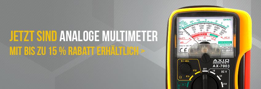 Nur im Juni - AXIOMET Multimeter bis zu 15 % günstiger