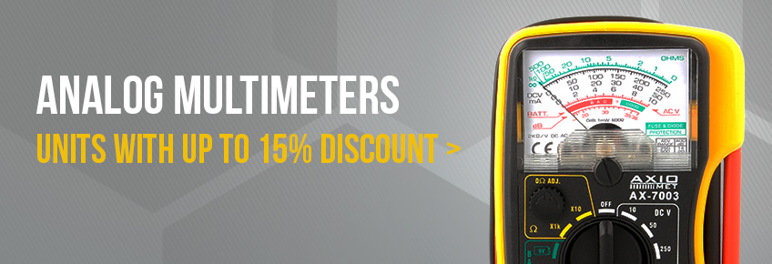 Only in June AXIOMET multimeters up to 15% off!