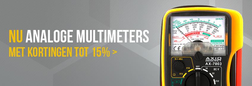 Alleen in juni zijn multimeters van AXIOMET tot 15% goedkoper