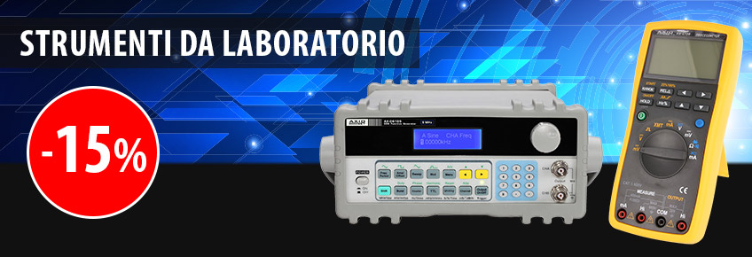 Dal 1.10 al 31.10.2018 strumenti da laboratorio del marchio AXIOMET scontati fino al 15%!