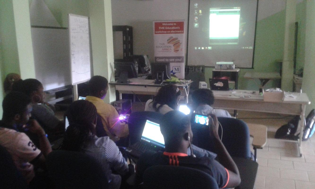 TME Education trainind at NextGen, Cameroon.